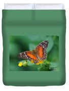 Red Anartia Butterfly 1 Duvet Cover