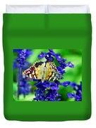 Beautiful Butterfly On A Flower Duvet Cover