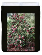 Beautiful Camellia Bush Duvet Cover