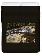 Beautiful Cascade In Western Ghats Karnataka India Duvet Cover