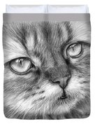 Beautiful Cat Duvet Cover by Olga Shvartsur