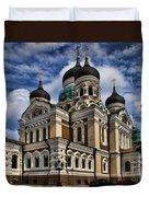 Beautiful Cathedral In Tallinn Estonia Duvet Cover