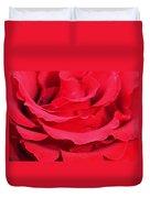 Beautiful Close Up Of Red Rose Petals  Duvet Cover