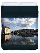 Beautiful Clouds Over Motlawa River - Gdansk Duvet Cover