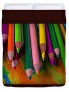 Beautiful Colored Pencils Duvet Cover