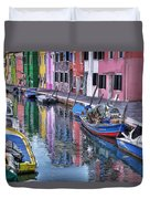 Beautiful Colors Of Burano Duvet Cover
