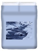 Beautiful Creek In Winter In Stanley Idaho Duvet Cover