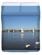 Beautiful Day By The River Duvet Cover