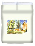 Beautiful Day On The Courthouse Square Duvet Cover