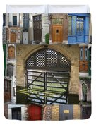 Beautiful Doors In London France And Belgium Duvet Cover by Cathy Jacobs