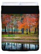Beautiful Fall Foliage In New Hampshire Duvet Cover