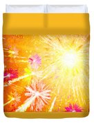 Beautiful Fireworks Duvet Cover
