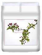 Beautiful Floral Greetings Duvet Cover