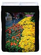 Beautiful Flower Garden Bellagio Las Vegas Duvet Cover