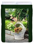 Beautiful Flowers In Basket Duvet Cover