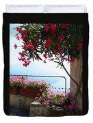 Beautiful Flowers Of Ravello Italy Duvet Cover