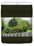 Beautiful Front Yard - Roses - Trees Duvet Cover