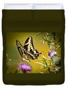 Beautiful Golden Swallowtail Duvet Cover