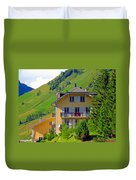 Beautiful House In Mont Blanc Duvet Cover