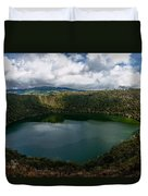 Beautiful Lake Guatavita Duvet Cover