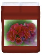 Beautiful Little Red Flowers Duvet Cover
