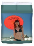 Beautiful Model At Sutro Baths In San Francisco V Duvet Cover