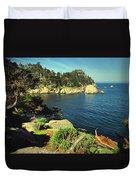 Beautiful Monterey Bay From Point Lobos Duvet Cover