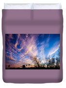 Beautiful Morning Sunrise Clouds Across The Sky Duvet Cover