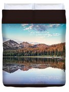 Beautiful Mountain Reflection Duvet Cover by Robert Bales