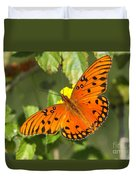 Beautiful Orange Butterfly - Gulf Fritillary Duvet Cover
