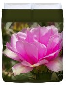 Beautiful Pink Cactus Flower Duvet Cover