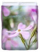 Beautiful Pink Spring Flowers Duvet Cover