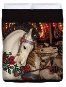 Beautiful Ponies Rwp Carousel Duvet Cover