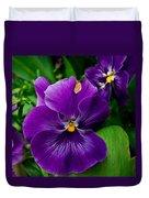 Beautiful Purple Pansies Duvet Cover
