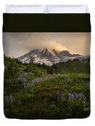 Beautiful Rainier Wildflower Meadows Duvet Cover