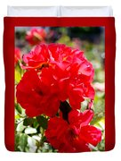 Beautiful Red Roses Duvet Cover