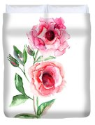 Beautiful Roses Flowers Duvet Cover
