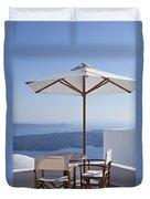 Beautiful Santorini View Duvet Cover