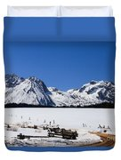 Beautiful Sawtooth Mountains Duvet Cover