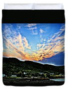 Beautiful Sky Over The Harbour Digital Painting Duvet Cover