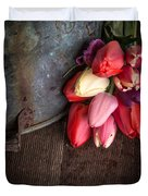 Beautiful Spring Tulips Duvet Cover