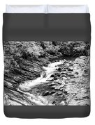 Beautiful Stream Smoky Mountains Bw Duvet Cover