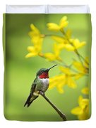 Beautiful Summer Hummer Duvet Cover