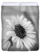 Beautiful Sunflower In Monocrome Duvet Cover