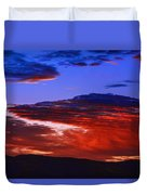 Beautiful Sunrise In Boise Duvet Cover