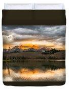 Beautiful Sunrise On Little Redfish Lake Duvet Cover