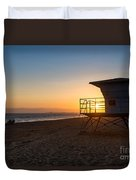 Beautiful Sunset In Point Mugu State Park In Malibu. Duvet Cover