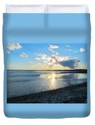 Beautiful Sunset Iowa River Duvet Cover