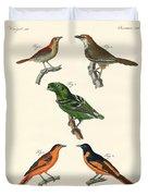 Beautiful Und Strange Foreign Birds Duvet Cover
