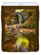 Beautiful View Of Upper Falls Located In Uvas Canyon County Park Forest Reflection Duvet Cover